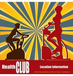 health club vector image vector image