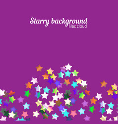 Holographic stars background vector