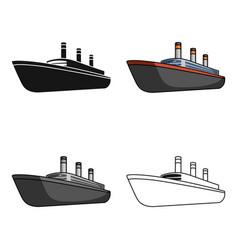 Huge cargo black linership for transportation of vector