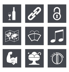 Icons for web design set 48 vector