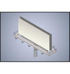 Isometric 3d billboard vector image vector image