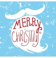 Mustache and beard of Santa Christmas card vector image