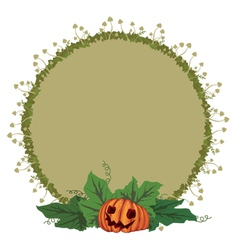 pumpkin and toadstools vector image vector image
