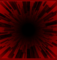 red burst ray black hole dark stripe vector image vector image