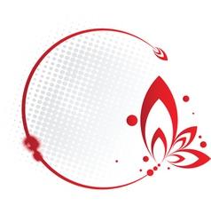 Red Floral Frame vector image
