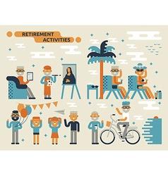 Retirement activities vector