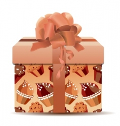 sweet present for you vector image vector image