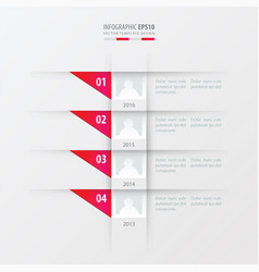 timeline design template pink gradient color vector image vector image