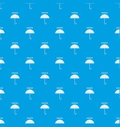 Umbrella and rain drops pattern seamless blue vector