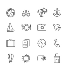Vacation leisure pictograms set vector