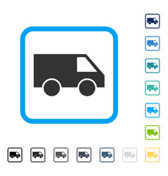van framed icon vector image vector image