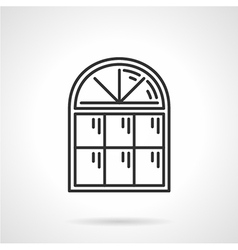 Vintage arched window icon vector