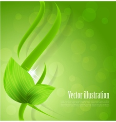 Abstract green design vector