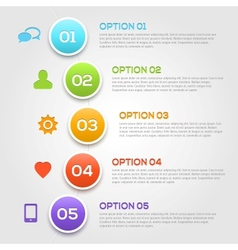 Modern infographics options template vector
