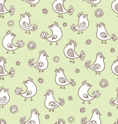birds pattern vector image