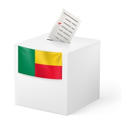 Ballot box with voting paper benin vector