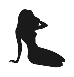 Girl in bikini silhouette vector image