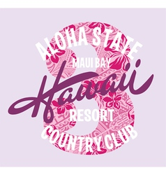 Hawaii country club vector