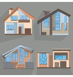 Building flat style home office cottage shop vector