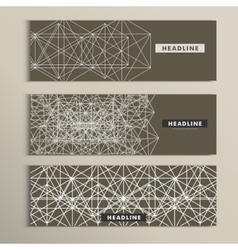 Set of stylish modern line textures vector
