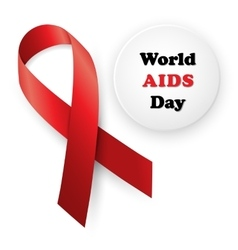 Red ribbon - aids vector