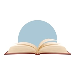 Opened book on blue background vector