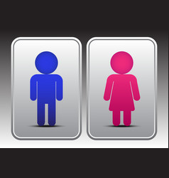 Male and female restroom icon vector