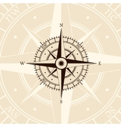 Brown wind rose vector