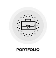 Portfolio line icon vector