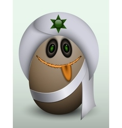 Egg indian prince in a turban vector