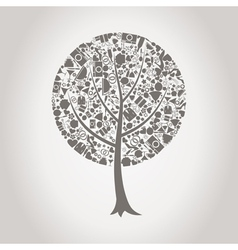 Tree wedding vector image