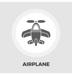 Airplane Flat Icon vector image