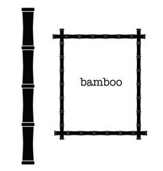 bamboo frame black color art vector image