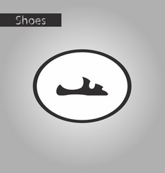 Black and white style icon flip flops vector