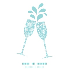 Blue and white lace garden plants toasting vector