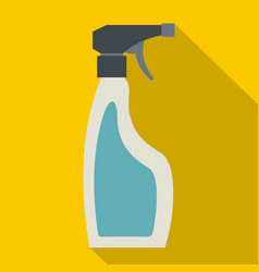 Blue sprayer bottle icon flat style vector