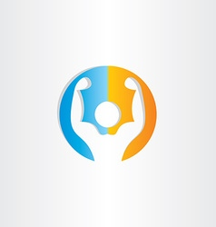 Bodybuilder icon gym symbol vector