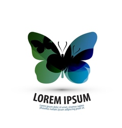 butterfly logo icon sign emblem template vector image
