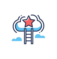 career ladder - modern line design icon vector image vector image