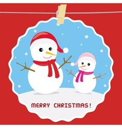 Christmas greeting card25 vector image