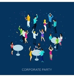 Corporate party concept vector