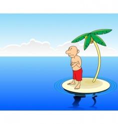 desert island vector image vector image