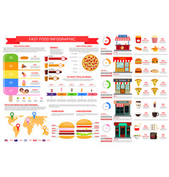 Fast food nutrition infographics elements vector