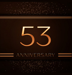 fifty three years anniversary celebration logotype vector image vector image