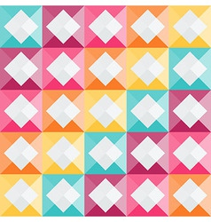 Geometric pattern with rainbow diamond shapes vector image