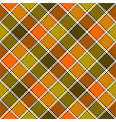 Green orange diagonal check plaid seamless pattern vector