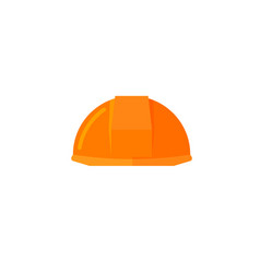 Helmet construction icon flat vector