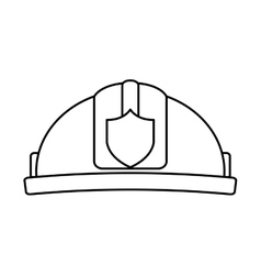 helmet firefighter isolated icon vector image vector image