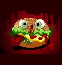 horrible meal vector image vector image