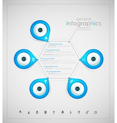 Infographic overview design template with blue vector image